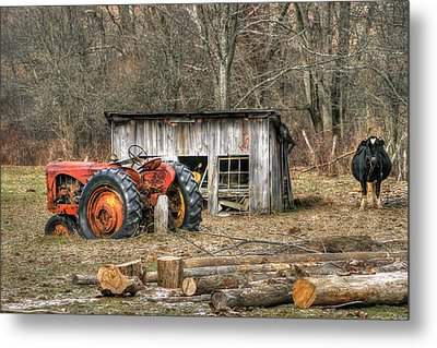 Firewood Metal Print by David Simons