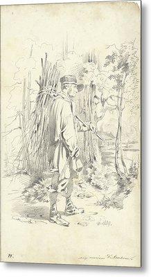 Firewood Gatherer, Pieter Van Loon Metal Print