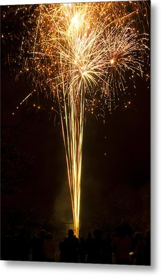 Metal Print featuring the photograph Firework Display by David Isaacson