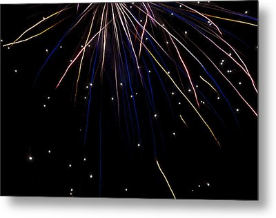 Metal Print featuring the photograph Firework Rain by David Isaacson