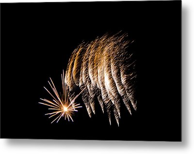 Metal Print featuring the photograph Fireworks 1 by Susan  McMenamin