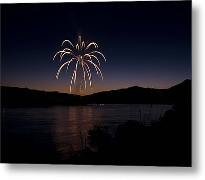 Metal Print featuring the photograph Fireworks 11 by Sonya Lang