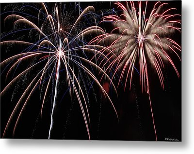 Fireworks 2 Metal Print by Andrew Nourse