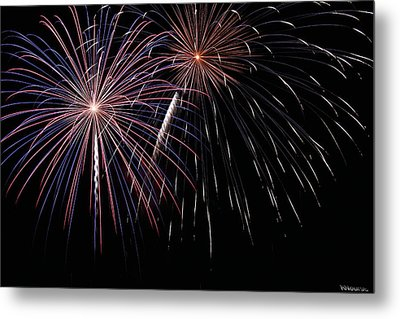 Fireworks 4 Metal Print by Andrew Nourse