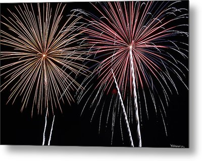 Fireworks Metal Print by Andrew Nourse