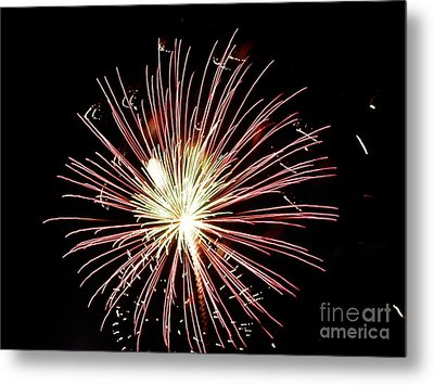 Metal Print featuring the digital art Fireworks By Aclay by Angelia Hodges Clay