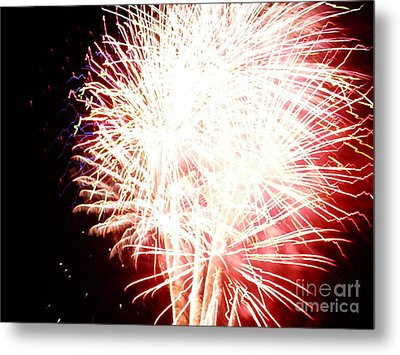 Metal Print featuring the digital art Fireworks By Angela by Angelia Hodges Clay