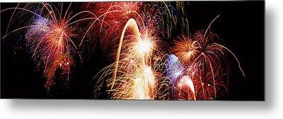 Fireworks Display, Banff, Alberta Metal Print