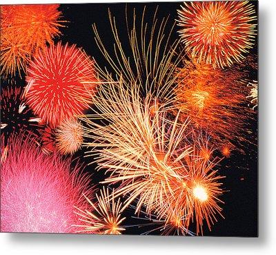 Fireworks Display Metal Print by Panoramic Images