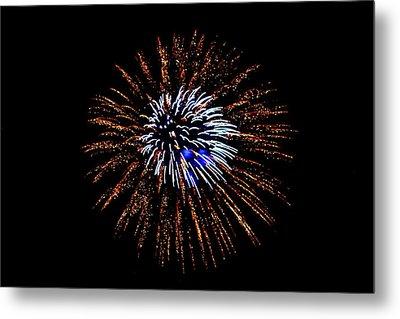 Fireworks Exposion Metal Print by Gene Walls