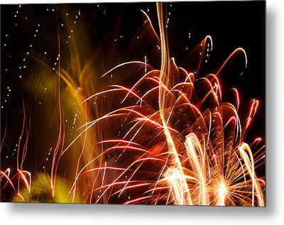Metal Print featuring the photograph Fireworks Finale  by Haleh Mahbod