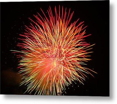 Fireworks  Metal Print by Michael Porchik