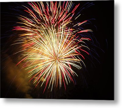 Fireworks Over Chesterbrook Metal Print by Michael Porchik