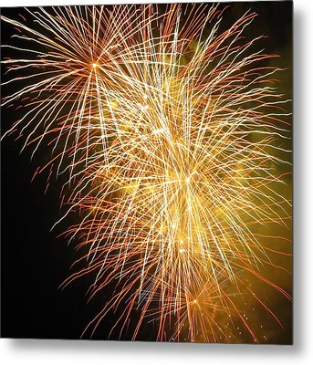 Fireworks Metal Print by Ramona Johnston