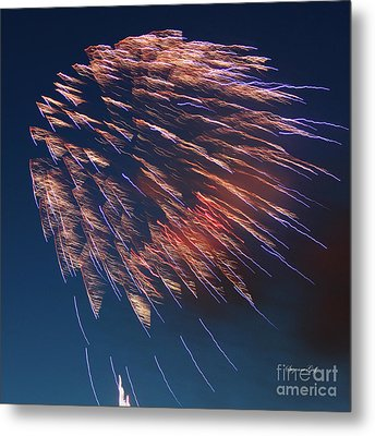 Fireworks Series I Metal Print by Suzanne Gaff