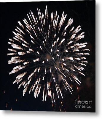Fireworks Series X Metal Print by Suzanne Gaff