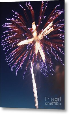 Fireworks Series Xii Metal Print by Suzanne Gaff