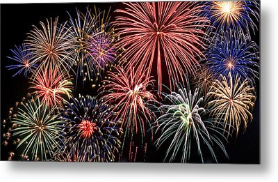 Fireworks Spectacular IIi Metal Print by Ricky Barnard