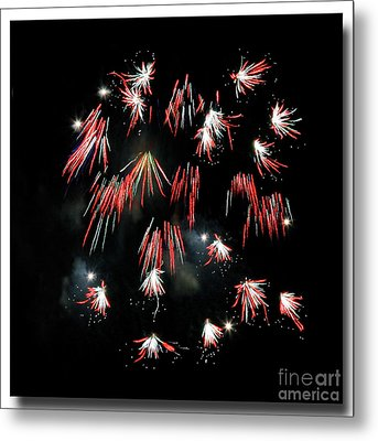 Metal Print featuring the photograph Fireworks Squared by Chris Anderson