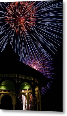 Fireworks Metal Print by Steve Myrick