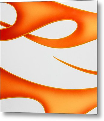 Metal Print featuring the photograph Firey Orange by Joe Kozlowski