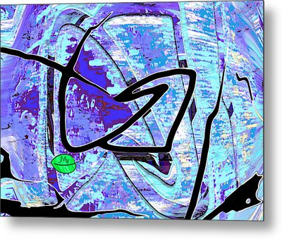 Firmament Cracked #3 - Masks And Cracks Metal Print