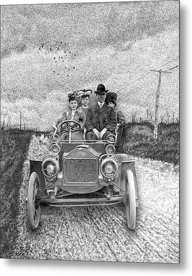 First Automobile In Concord Metal Print