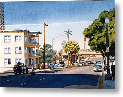 First Avenue In San Diego Metal Print by Mary Helmreich