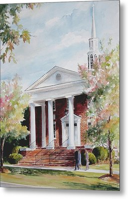 First Baptist Church Sold Metal Print by Gloria Turner