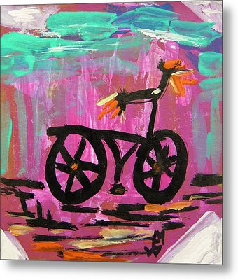First Bike Metal Print by Mary Carol Williams