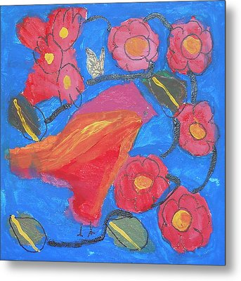Metal Print featuring the painting First Bird by Artists With Autism Inc