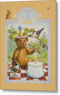 First Birthday Metal Print by Lynn Bywaters
