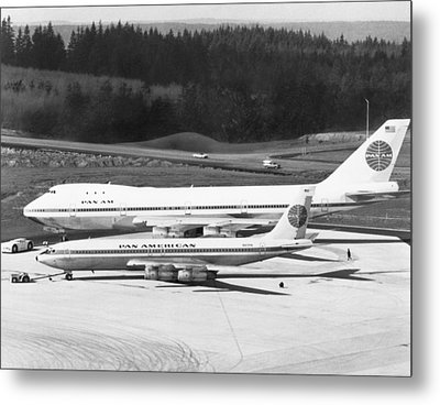 First Boeing 747 Metal Print by Underwood Archives