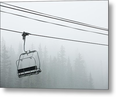 First Chair In The Storm Metal Print by Adam Pender