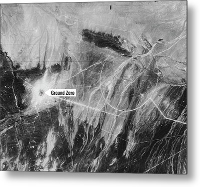 First Chinese Nuclear Test Metal Print by National Reconnaissance Office