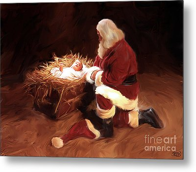 First Christmas Metal Print by Mark Spears