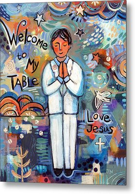 First Communion Boy Metal Print by Jen Norton