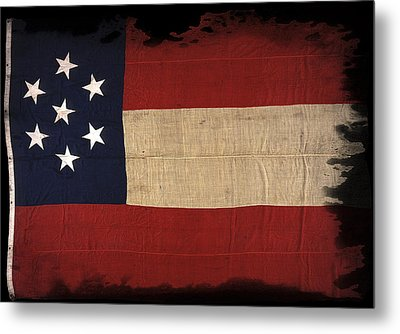 First Confederate Flag Metal Print