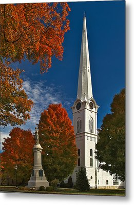 First Congregational Church Of Manchester Metal Print by Charles Kozierok