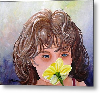 First Daffodil Metal Print