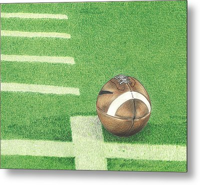 First Down Metal Print by Troy Levesque