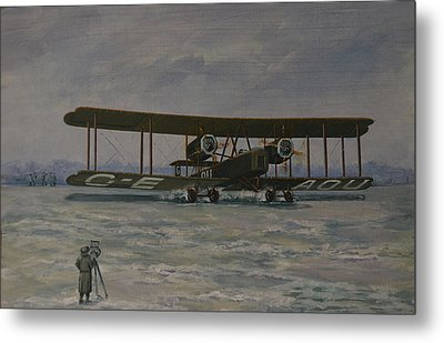 Metal Print featuring the painting First England-australia Flight 1919 by Murray McLeod