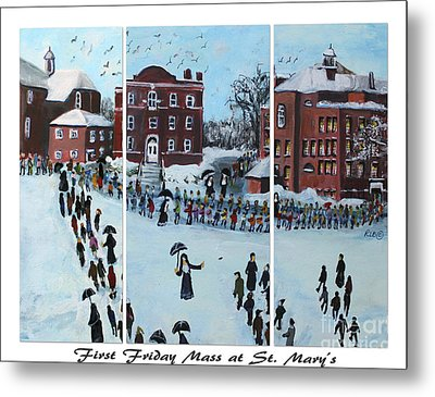 First Friday Mass At Saint  Mary's Metal Print