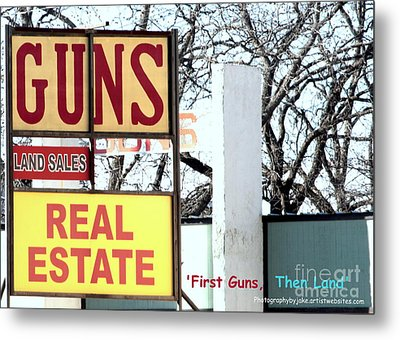 First Guns Then Land Metal Print by Joe Jake Pratt