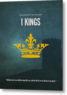 First Kings Books Of The Bible Series Old Testament Minimal Poster Art Number 11 Metal Print by Design Turnpike