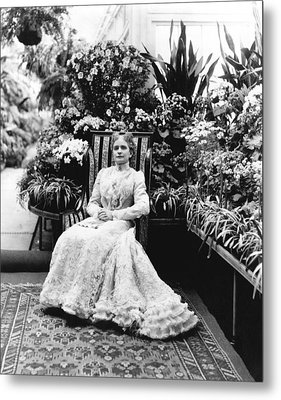 First Lady Ida Mckinley Metal Print by Underwood Archives