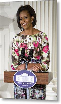 First Lady Michelle Obama Metal Print by JP Tripp