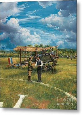 First Landing At Shepherd's Field Metal Print by Randy Green