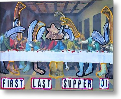 First Last Supper Metal Print by Lisa Piper