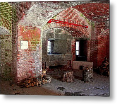 First Level Casemates Metal Print by Pamela Hyde Wilson